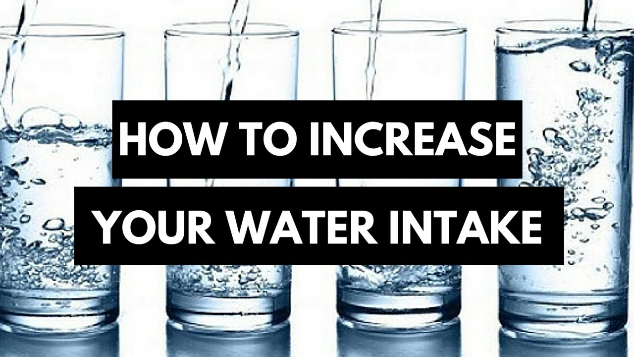 Improve your water intake